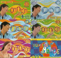 Lot de 6 cartes OMNICOM-2